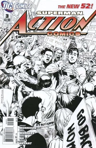 Cover for Action Comics (DC, 2011 series) #3 [1:200 Incentive Cover Edition]