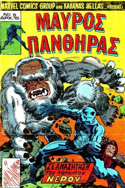 Cover for Μαύρος Πάνθηρας (Kabanas Hellas, 1978 series) #5