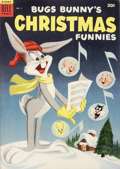 Cover for Bugs Bunny's Christmas Funnies (Dell, 1950 series) #5 [Canadian issue]