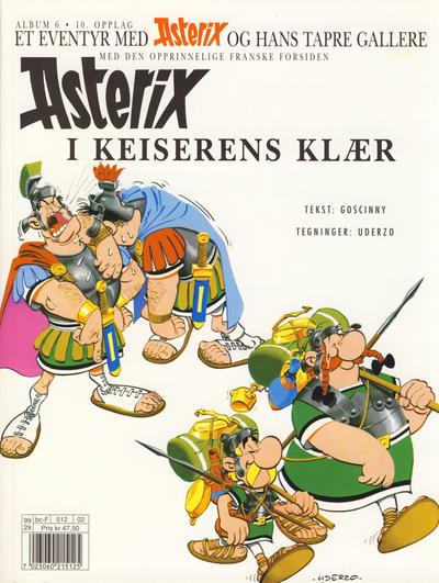 Cover for Asterix (Hjemmet / Egmont, 1969 series) #6 - Asterix i keiserens klær [10. opplag]