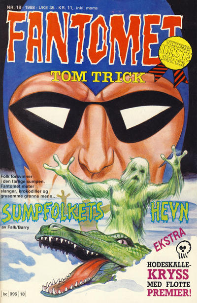 Cover for Fantomet (Semic, 1976 series) #18/1988