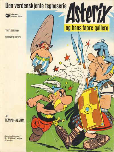 Cover for Asterix (Hjemmet / Egmont, 1969 series) #1 - Asterix og hans tapre gallere [2. opplag]
