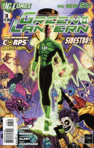Cover for Green Lantern (DC, 2011 series) #3 [Direct Sales]