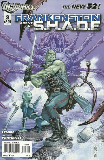 Cover for Frankenstein, Agent of S.H.A.D.E. (DC, 2011 series) #3