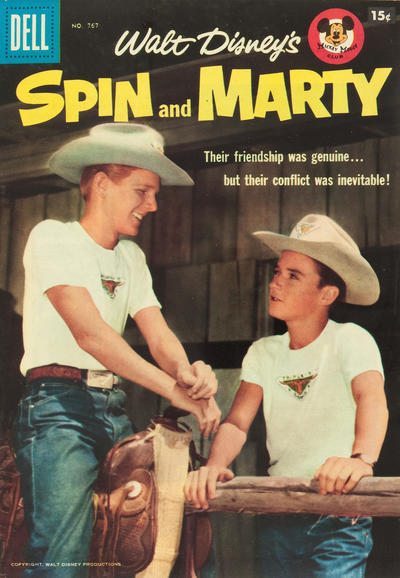 Cover for Four Color (Dell, 1942 series) #767 - Walt Disney's Spin and Marty