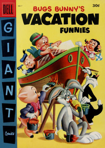 Cover for Bugs Bunny's Vacation Funnies (Dell, 1951 series) #7