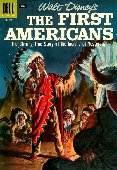 Cover for Four Color (Dell, 1942 series) #843 - Walt Disney's The First Americans
