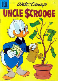 Cover Thumbnail for Uncle Scrooge (Dell, 1953 series) #18 [15 Cent Price Variant]