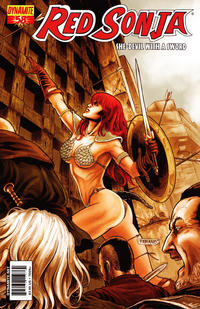Cover Thumbnail for Red Sonja (Dynamite Entertainment, 2005 series) #58 [Cover A Fabiano Neves]