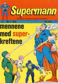 Cover Thumbnail for Supermann (Illustrerte Klassikere / Williams Forlag, 1969 series) #11/1970