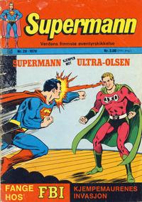 Cover Thumbnail for Supermann (Illustrerte Klassikere / Williams Forlag, 1969 series) #20/1970