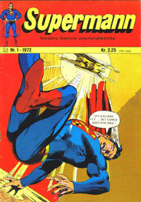 Cover Thumbnail for Supermann (Illustrerte Klassikere / Williams Forlag, 1969 series) #1/1972