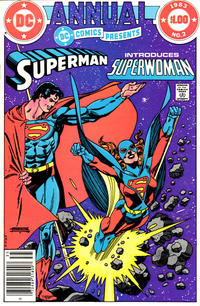 Cover Thumbnail for DC Comics Presents Annual (DC, 1982 series) #2 [Newsstand]