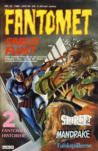 Cover Thumbnail for Fantomet (Semic, 1976 series) #25/1988