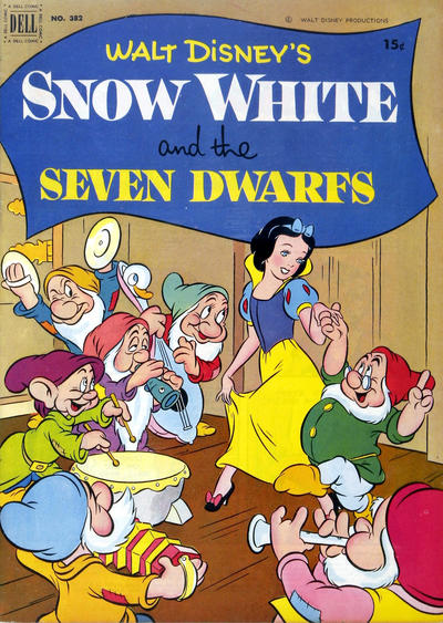 Cover for Four Color (Dell, 1942 series) #382 - Walt Disney's Snow White and the Seven Dwarfs