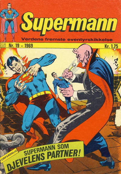 Cover for Supermann (Illustrerte Klassikere / Williams Forlag, 1969 series) #19/1969