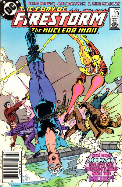 Cover for The Fury of Firestorm (DC, 1982 series) #49 [Newsstand Edition]