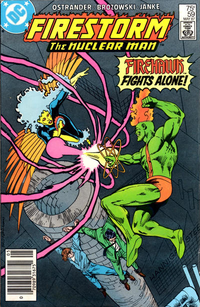 Cover for The Fury of Firestorm (DC, 1982 series) #59 [Newsstand Edition]