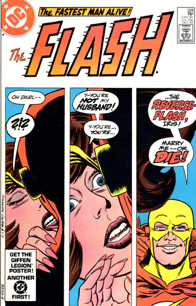 Cover for The Flash (DC, 1959 series) #328 [Newsstand]