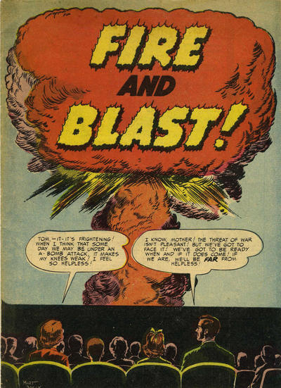 Cover for Fire and Blast! (Prize, 1952 series)
