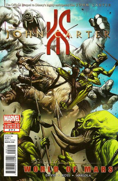 Cover for John Carter: The World of Mars (Marvel, 2011 series) #2