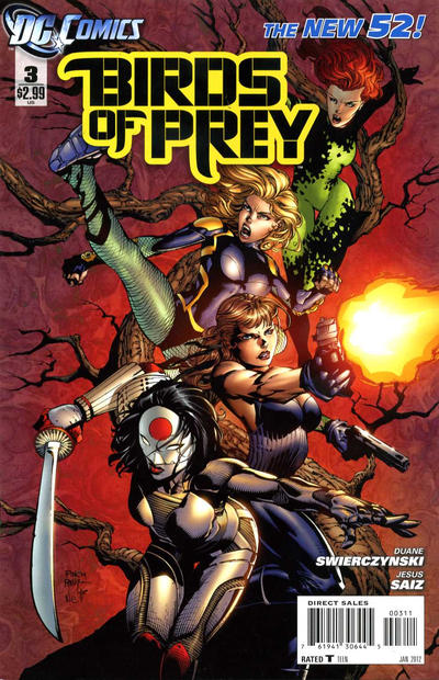Cover for Birds of Prey (DC, 2011 series) #3
