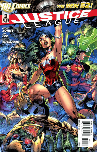 Cover for Justice League (DC, 2011 series) #3 [Combo-Pack Edition Cover by Jim Lee]
