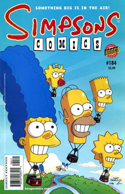 Cover for Simpsons Comics (Bongo, 1993 series) #184