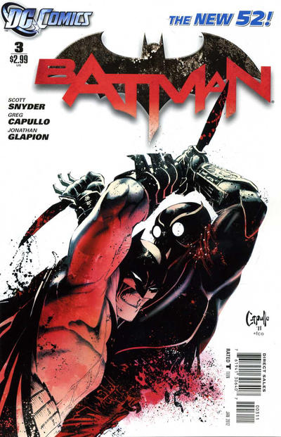 Cover for Batman (DC, 2011 series) #3 [Second Printing]