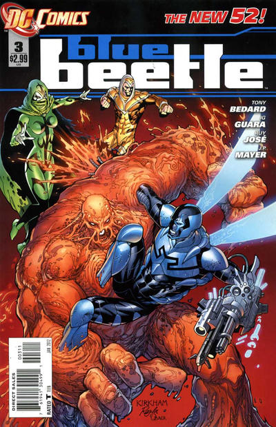 Cover for Blue Beetle (DC, 2011 series) #3