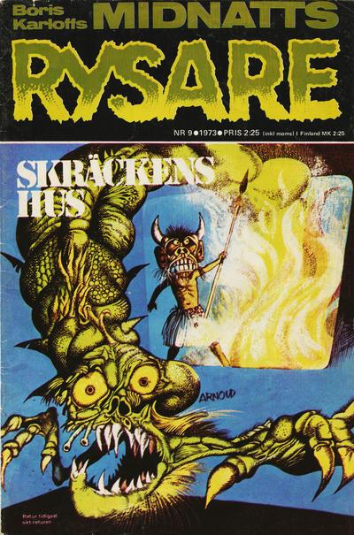 Cover for Boris Karloffs midnattsrysare (Semic, 1972 series) #9/1973