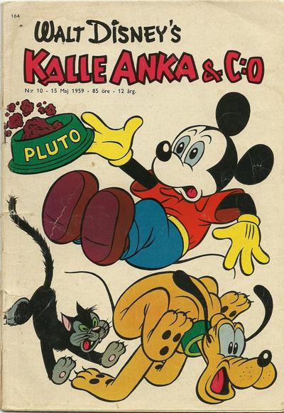 Cover for Kalle Anka & C:o (Hemmets Journal, 1957 series) #10/1959