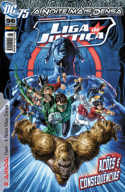 Cover for Liga da Justiça (Panini Brasil, 2002 series) #96