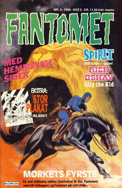 Cover for Fantomet (Semic, 1976 series) #3/1989