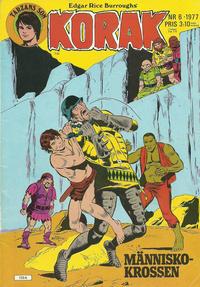 Cover Thumbnail for Korak (Atlantic Förlags AB, 1977 series) #6/1977