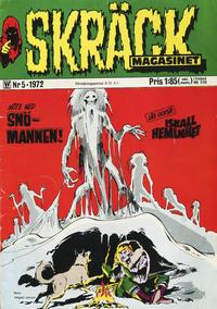 Cover Thumbnail for Skräckmagasinet (Williams Förlags AB, 1972 series) #5/1972