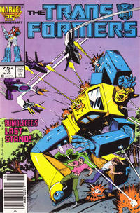 Cover Thumbnail for The Transformers (Marvel, 1984 series) #16 [Newsstand]