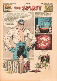 Cover Thumbnail for The Spirit (Register and Tribune Syndicate, 1940 series) #4/3/1949