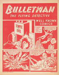 Cover Thumbnail for Bulletman the Flying Detective [Well Known Comics] (Fawcett, 1942 series)