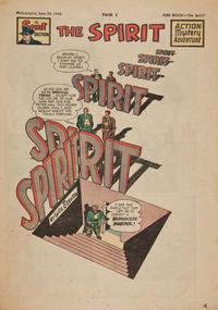 Cover Thumbnail for The Spirit (Register and Tribune Syndicate, 1940 series) #6/20/1948