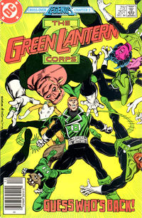 Cover Thumbnail for The Green Lantern Corps (DC, 1986 series) #207 [Newsstand Edition]