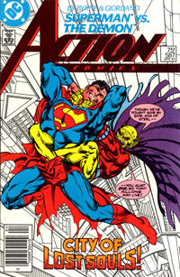 Cover Thumbnail for Action Comics (DC, 1938 series) #587 [Newsstand]