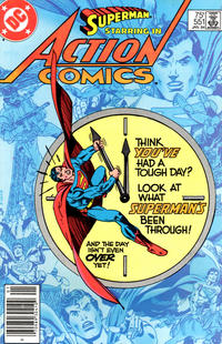 Cover Thumbnail for Action Comics (DC, 1938 series) #551 [Newsstand]