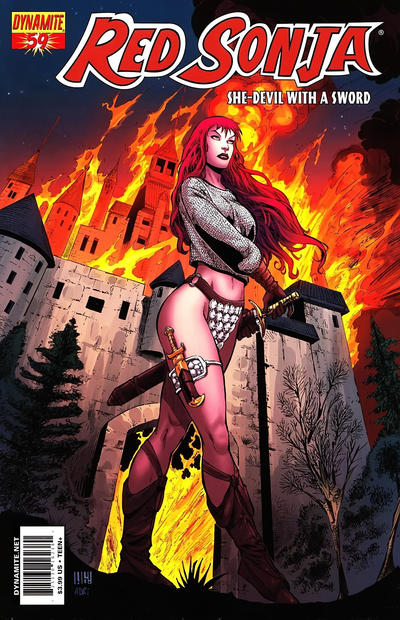 Cover for Red Sonja (Dynamite Entertainment, 2005 series) #59 [Cover B Walter Geovani ]
