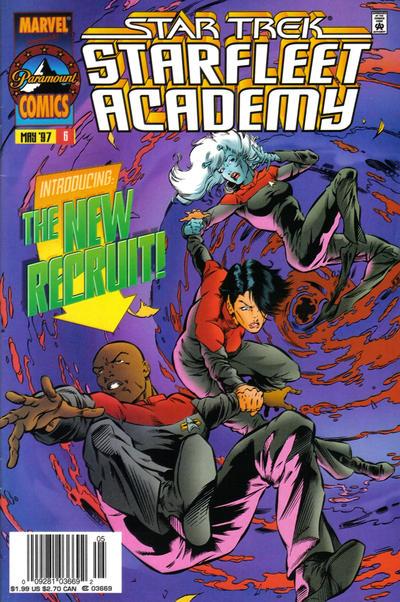 Cover for Star Trek: Starfleet Academy (Marvel, 1996 series) #6 [Newsstand Edition]