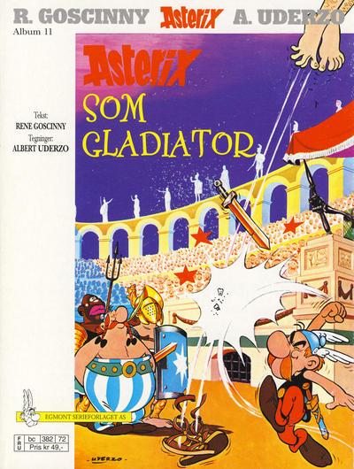 Cover for Asterix (Hjemmet / Egmont, 1969 series) #11 - Asterix som gladiator [2. opplag]