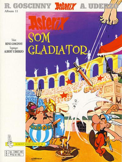 Cover for Asterix (Hjemmet / Egmont, 1969 series) #11 - Asterix som gladiator [7. opplag [6. opplag]]