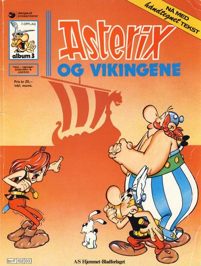 Cover for Asterix (Hjemmet / Egmont, 1969 series) #3 - Asterix og vikingene [2. opplag]