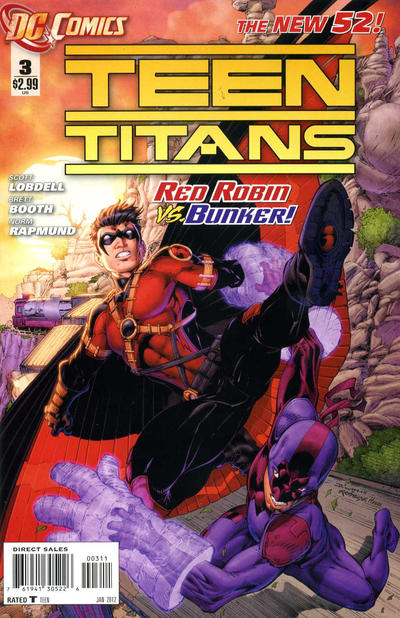 Cover for Teen Titans (DC, 2011 series) #3