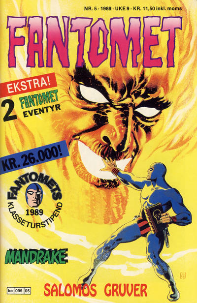Cover for Fantomet (Semic, 1976 series) #5/1989